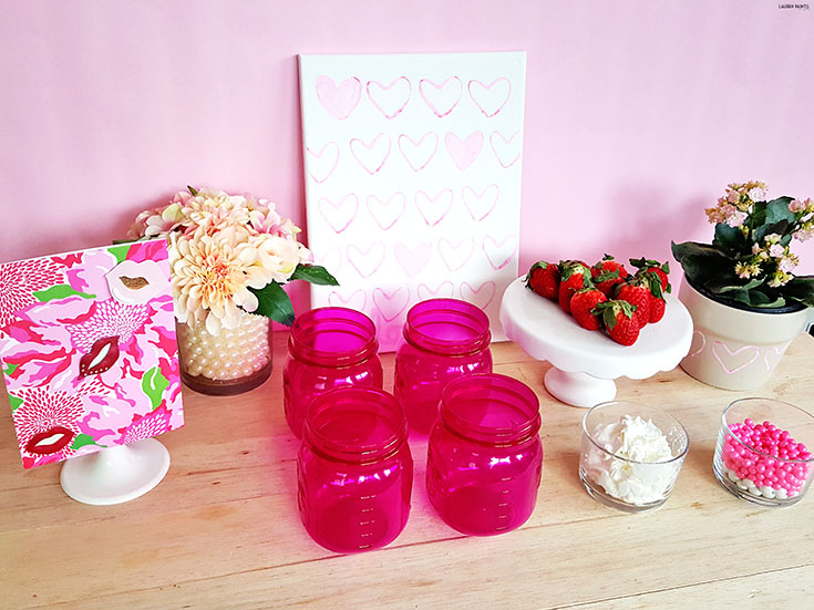 Are you looking for a fun way to spread a little love? Check out this super simple DIY project and a simple set up for all of your little sweethearts to enjoy a party!