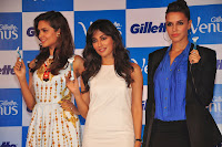 Esha, Chitrangada, Neha at Gillette Venus Shaving System launch event