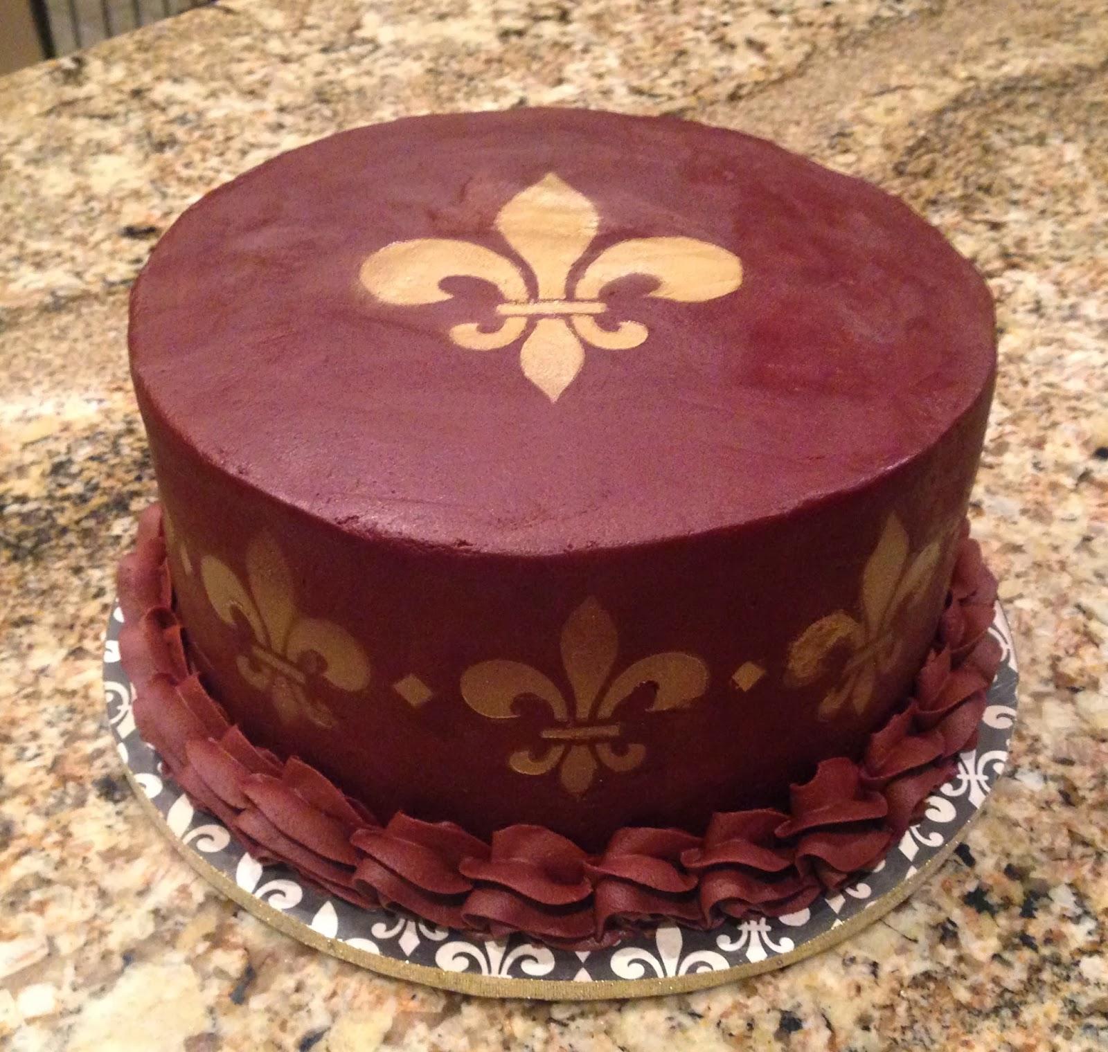 Chocolate Fleur De Lis Cake 8