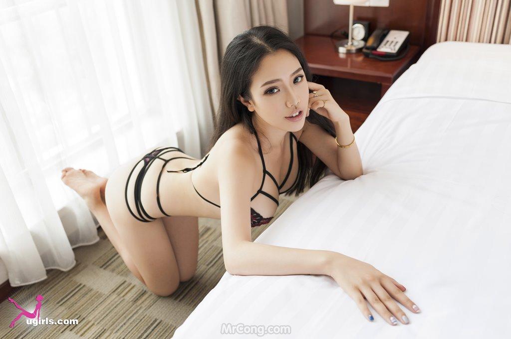 Image MrCong.com-UGIRLS-035-Ni-Xiao-Yao-005 in post Mê mẩn ngắm vòng một nở nang của người đẹp Ni Xiao Yao (妮小妖) trong bộ ảnh UGIRLS 035