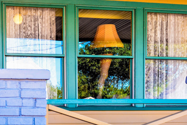 A Christmas Story House Leg Lamp