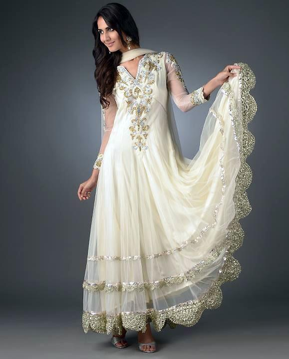SHE FASHION CLUB White Indian Wedding Dress