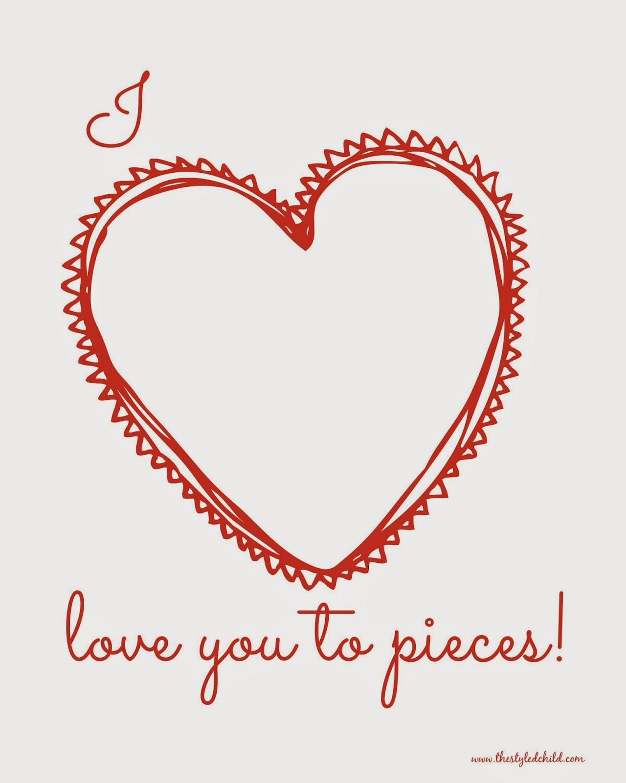 photo about I Love You to Pieces Printable called Easy and Very simple Do it yourself Valentine Working day Craft! ~ The Styled Baby