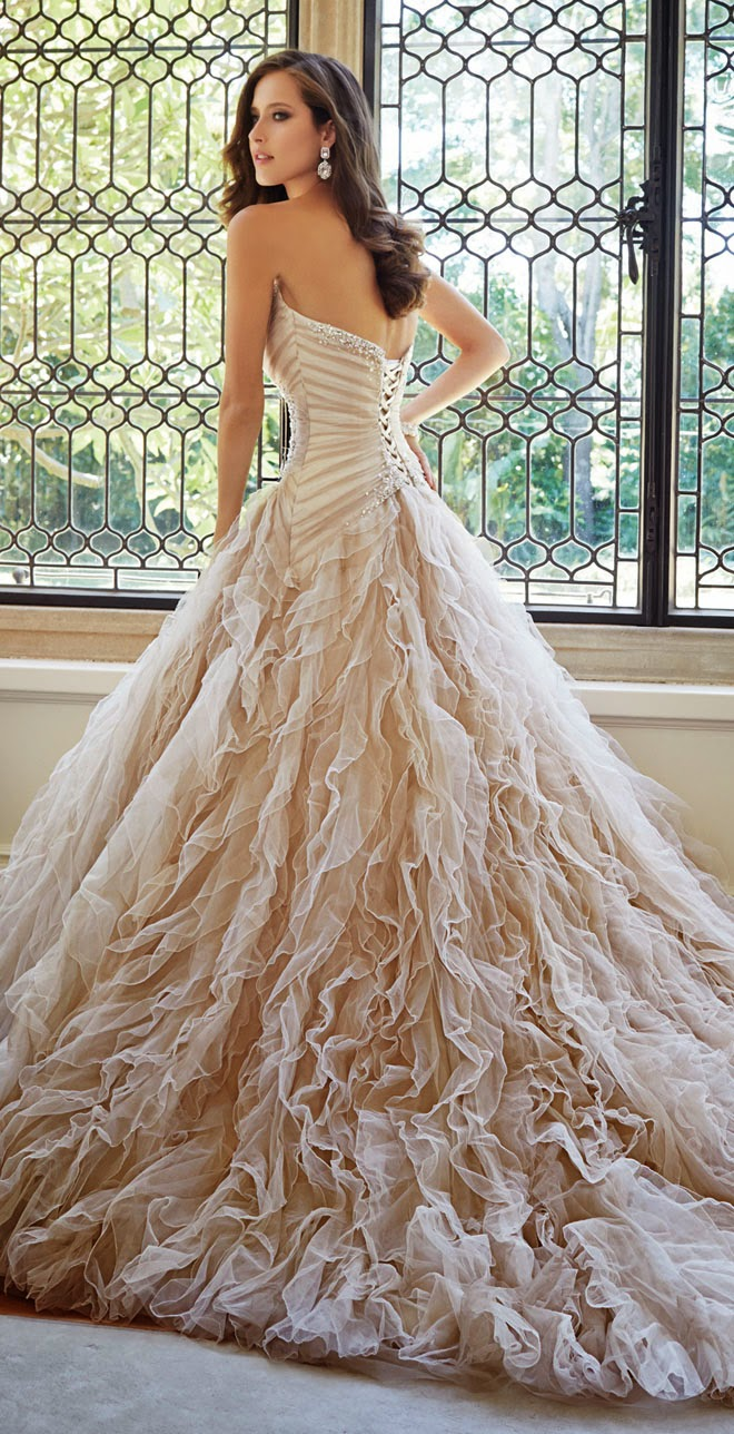 Sophia Tolli Fall 2014 Bridal Collection - Belle The Magazine