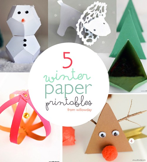 Winter Paper Craft Ideas for Kids (and Adults!)