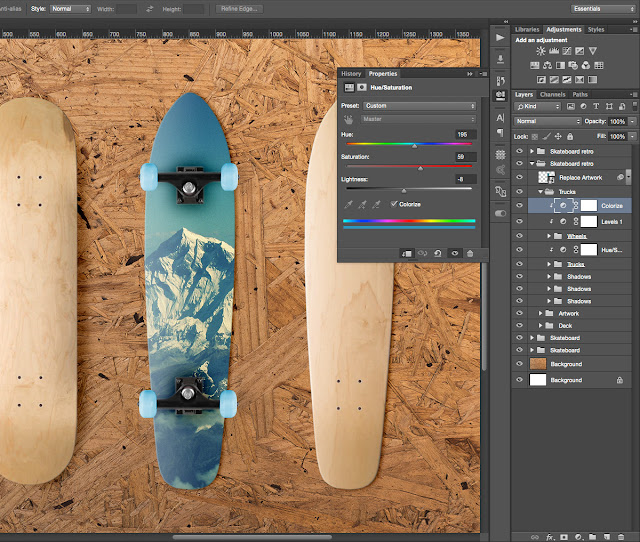 Conjunto de patinetas en formato PSD