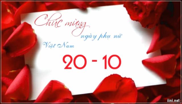 thiệp chúc mừng 20-10 dành tặng phụ nữ Việt