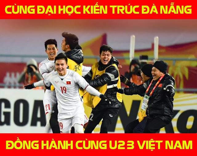 Đại học Kiến trúc Đà Nẵng đồng hành cùng U23 Việt Nam