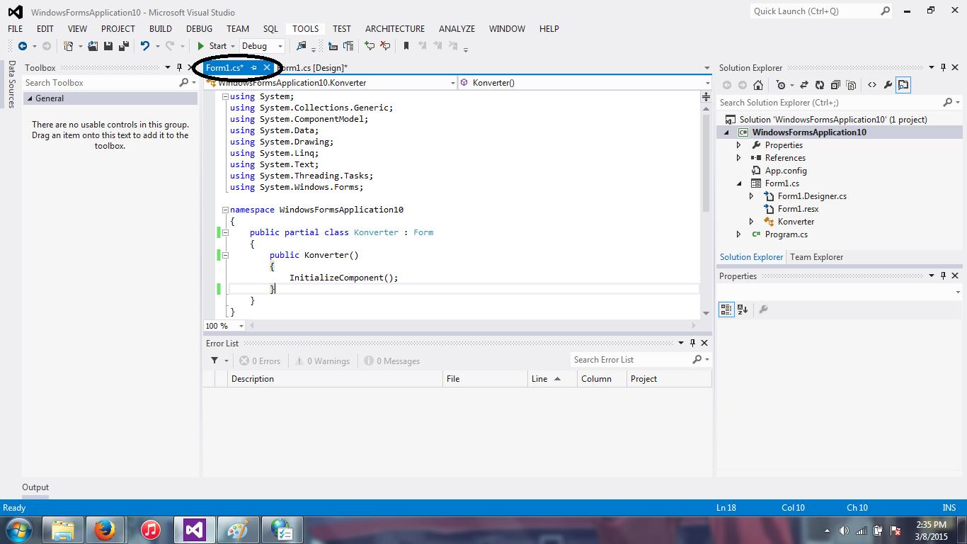 8 - Konversi Suhu(Visual Studio 2012)