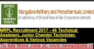 MRPL-46-Technical-Assistant-Junior-Chemist-Technician-Apprentices-Vacancies