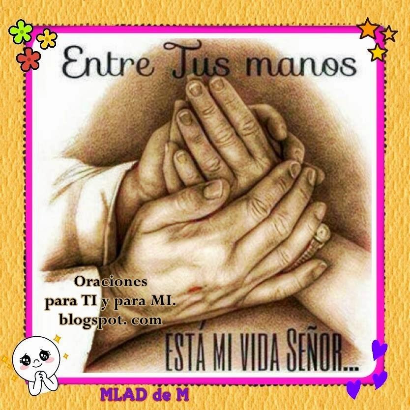 Entre Tus manos  está mi vida, Señor.  Entre Tus manos  pongo mi existir.