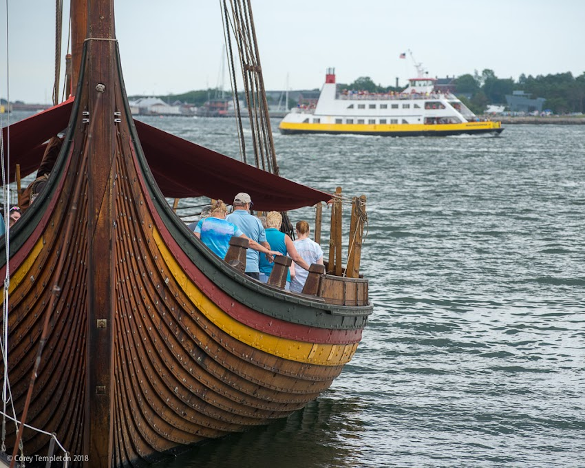 "Portland, Maine USA July 2018 photo by Corey Templeton. Checking out the Viking Ship Draken Harald Hårfagre in Portland Harbor this past weekend. This is ""the World's largest Viking Ship sailing in modern times"" and it currently touring the East Coast."