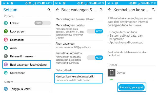 Tutorial Cara Hard Reset Smartphone ASUS Zenfone 3 MAX, 3s Max, 3 Ultra Dengan Cepat