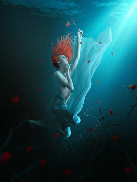 tutorial photoshop, manipulasi underwater, efek foto photsohop