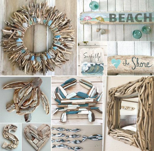 Driftwood Wall Decor Wall Art Handmade Usa Coastal Decor Ideas Interior Design Diy Shopping