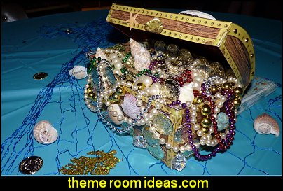 Treasure Chest Theme Party Supplies mermad party decorations