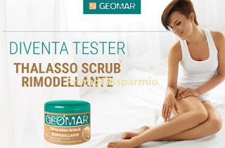 Logo Geomar: diventa tester Thalasso Scrub Rimodellante