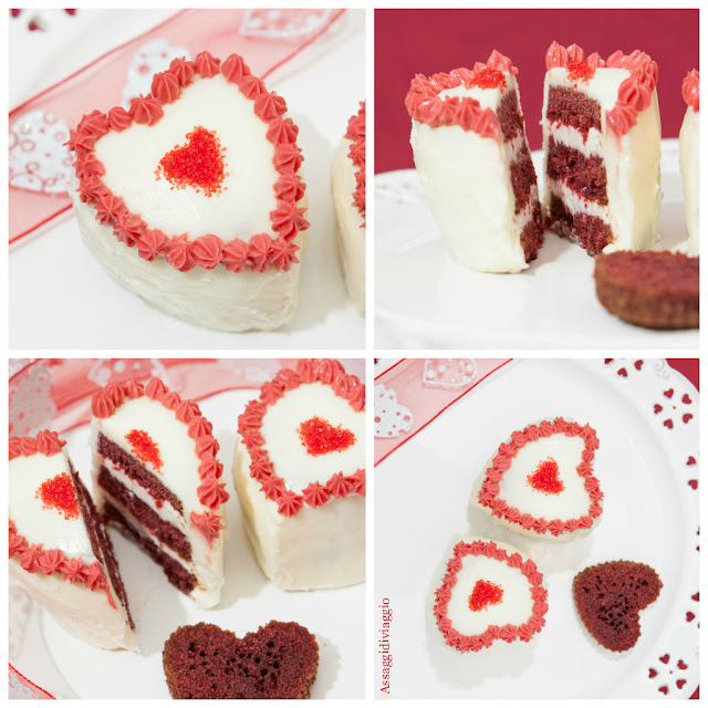 The red velvet heart cake