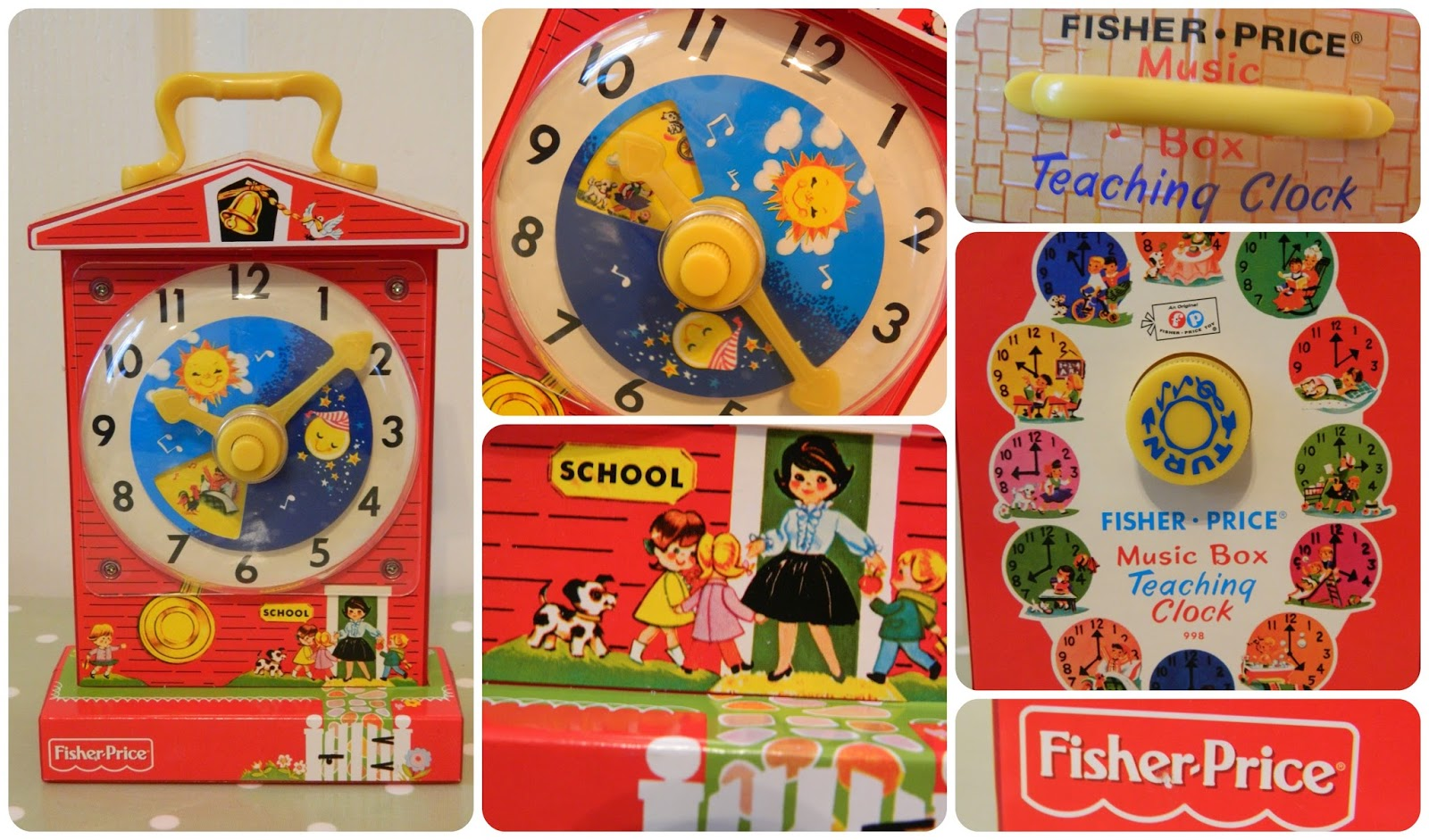 Fisher-Price Music Box Teaching Clock