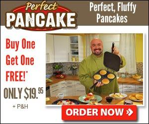 Perfect Pancake Pan Makes 4 Perfect Pancakes
