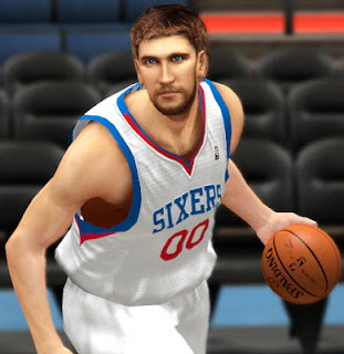 NBA 2K13 Spencer Hawes Cyber Face Patch
