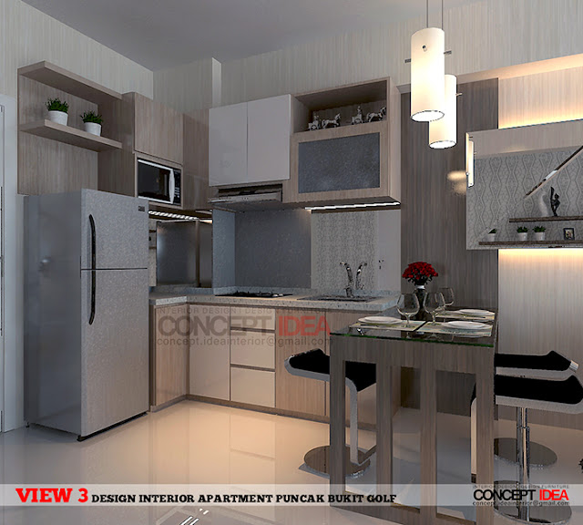 Kitchen Set Surabaya: CONCEPT IDEA: Apartment Puncak Bukit Golf, Surabaya
