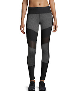 mesh panel grey and black leggings