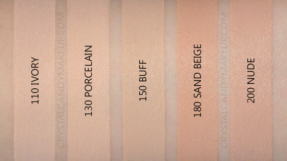 Revlon Colorstay Foundation Normal Dry Swatches 110 130 150 180 200 NW15 NC20 NW30 NW25 MAC Shade