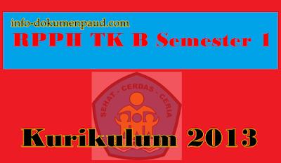 RPPH TK B Semester 1 | Info Dokumen PAud