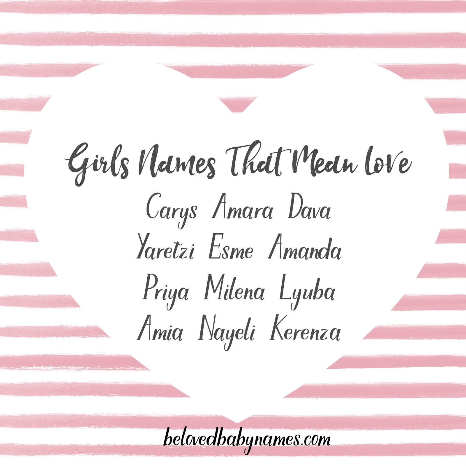 Beloved Baby Names Girls Names That Mean Love