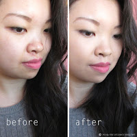 Maybelline Dream Velvet Foundation and Blender Review Swatch before and after