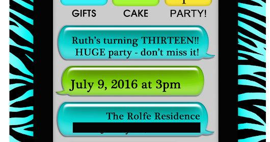 Reflections of the Times: Party Planning 101: RSVP