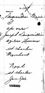 Lina Desgroseilliers birth registration 1905