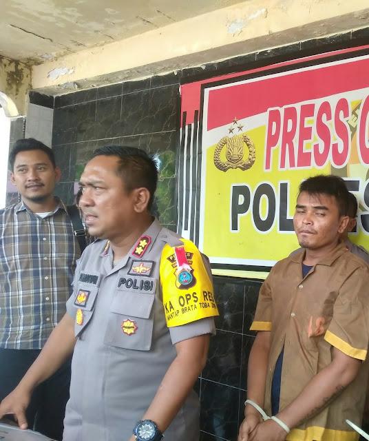 Kapolres Asahan AKBP Faisal Napitupulu memberikan keterangan