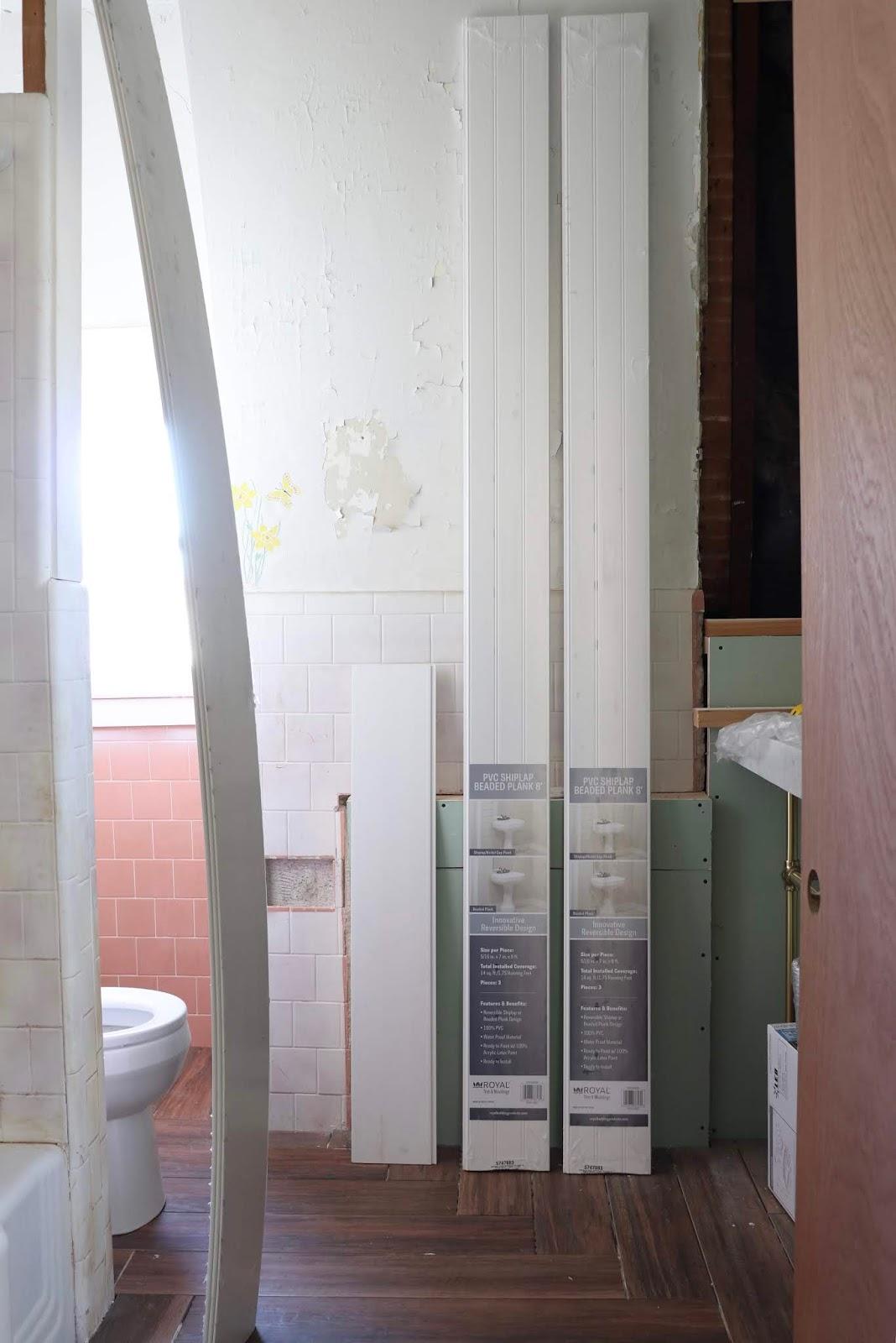 install shiplap over tile