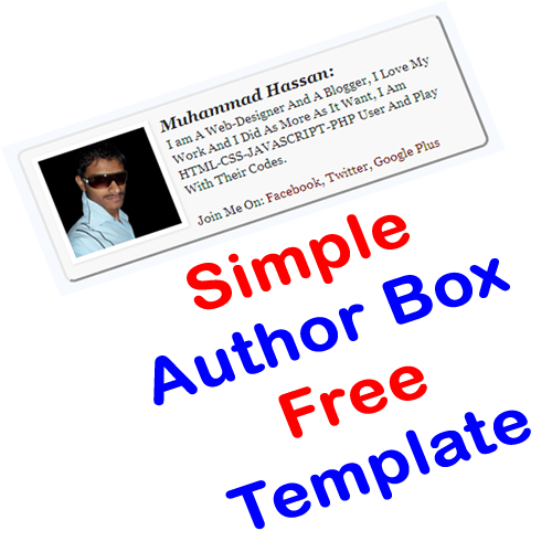 Simple Author Box Free Html Css Template Exeideas Let S Your