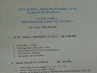 DKM Baiturrahman Sediakan Aula Untuk Resepsi