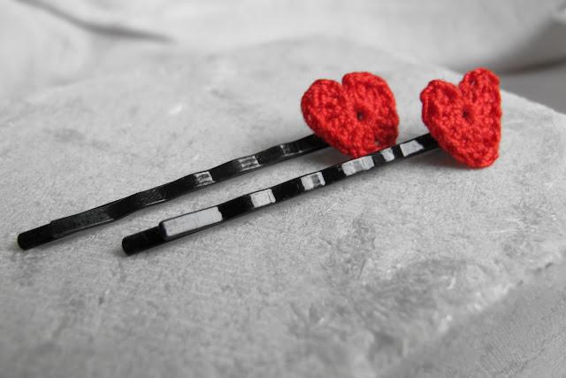 Gehaakte hartenversiersels