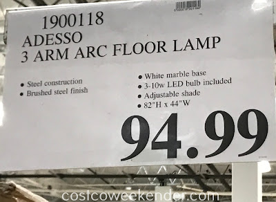 Deal for the Adesso 3 Arm Arc Floor Lamp at Costco
