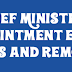 Chief Minister, its appointment, election, duties and removal