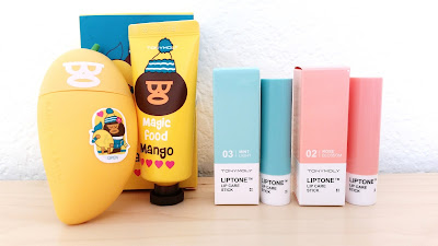 Tonymoly Magic Food Mango Hand Butter and Liptone Lip Care Sticks