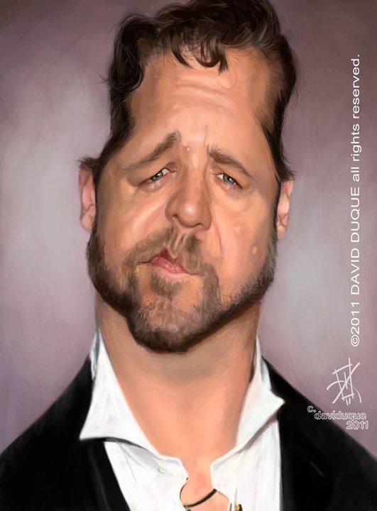 Russell Crowe por David Duque