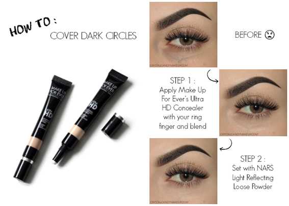 How to cover dark circles with Make Up For Ever Ultra HD Invisible Cover Concealer