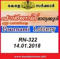 POURNAMI (RN-322) LOTTERY RESULT JANUARY 14, 2018