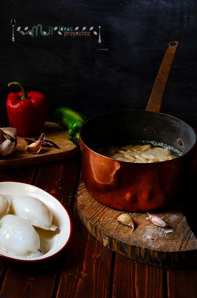 receta de fabas con sepia