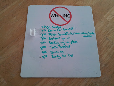 To do list for the wee ones on the portable whiteboard