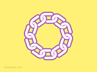 Knot effect or chain vector design tutorial inkscape corel draw adobe illustrator