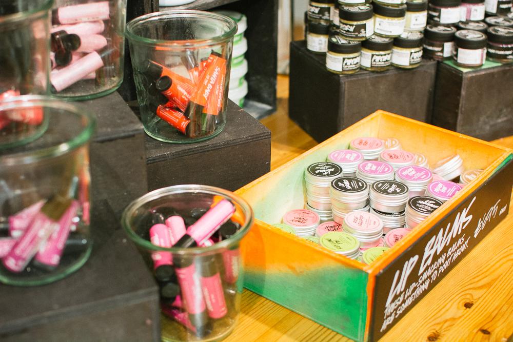Lush Winter Cardiff Blogger Event lush lip tints santa baby