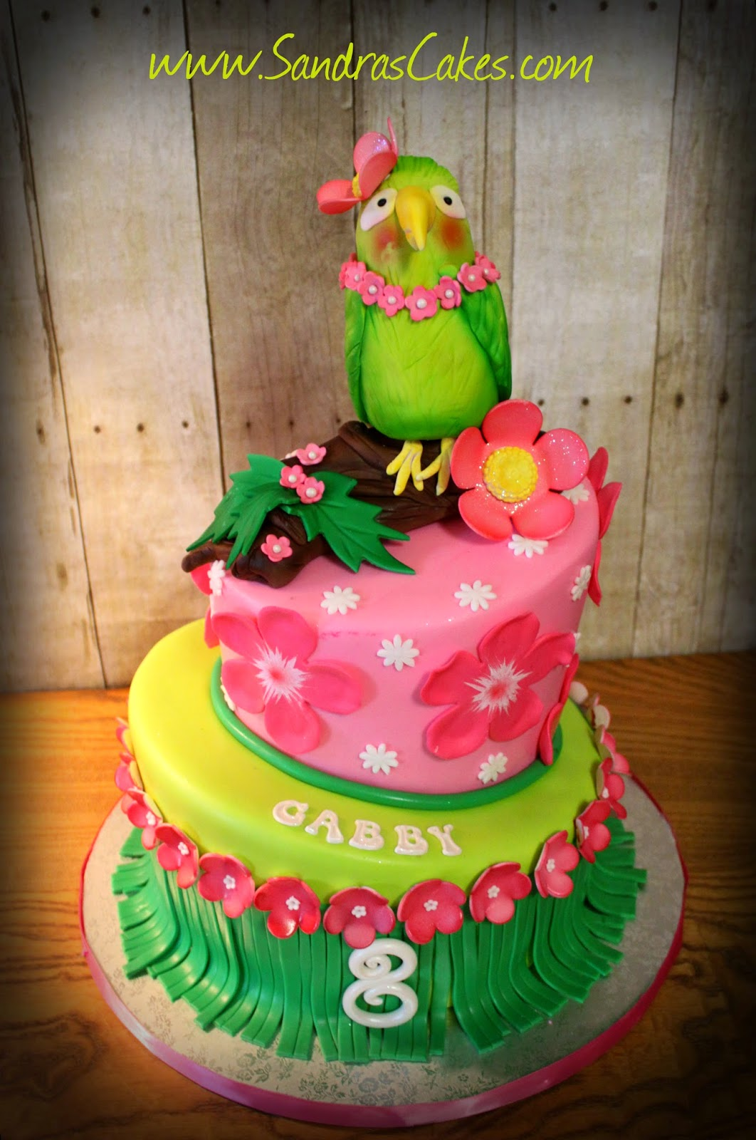 Gabbys Luau Birthday Cake