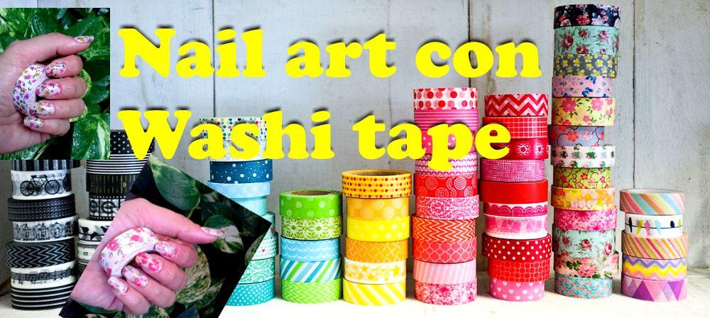 Delcarmenartesanal como decorar tus u as con washi tape - Decorar con washi tape ...